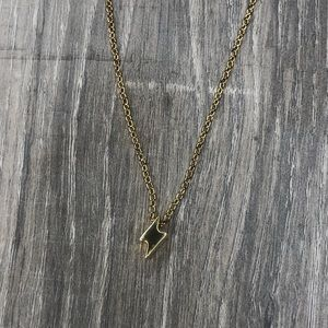 Gold Fashion Necklace with Lightening Bolt